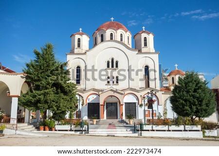 Greek Orthodox Church in Alexandroupolis - Greece  - stock photo