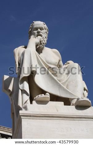 Greek philosopher Socrates. - stock photo