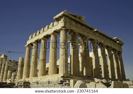 Greek ruins - stock photo