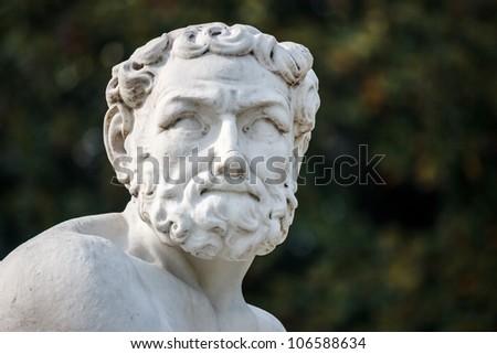 Greek statue face - stock photo