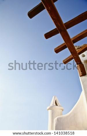 Greek style architecture - stock photo