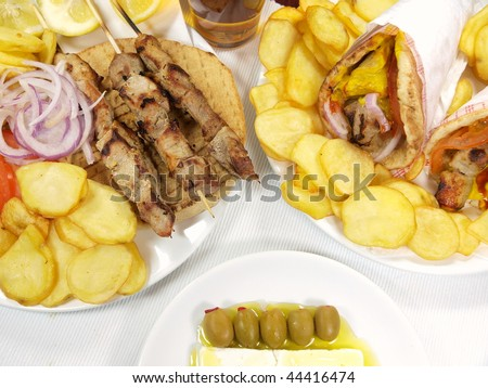 Greek table setting  sc 1 st  Shutterstock & Greek Table Setting Stock Photo (Royalty Free) 44416474 - Shutterstock
