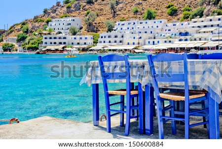 Greek tavern  - stock photo