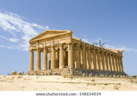 Greek Temple of Concordia, Agrigento, Italy.