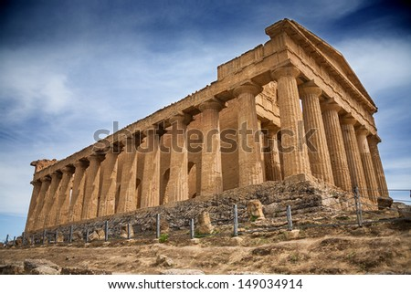 Greek Temple of Concordia (Archaeological Area of Agrigento, Italy)