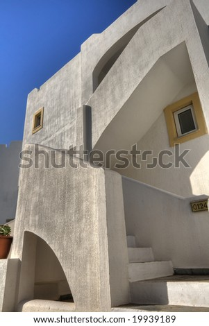 Greek white houses