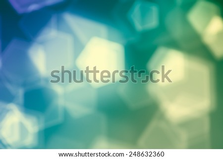 Green abstract background, blurred lights bokeh - stock photo