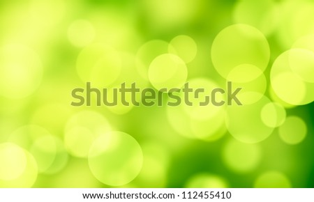 green abstract background circle lights bokeh - stock photo