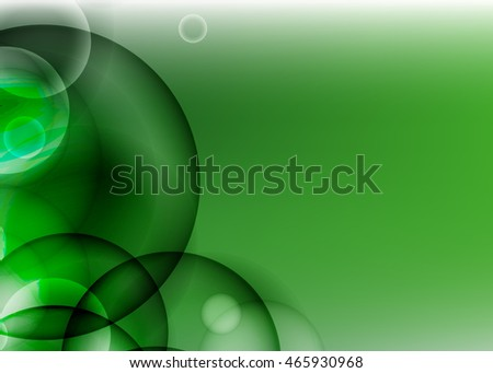 green abstract background for business card or banner