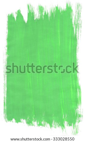 Green abstract background texture with paint brush strokes - stock photo