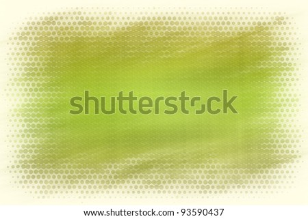 Green abstract background with dotted border - stock photo