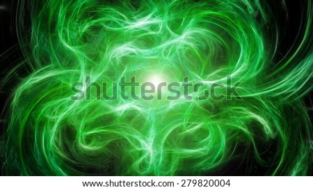 Green abstract background with saturated green color - stock photo