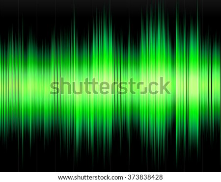 Green abstract digital sound wave on a black background. - stock photo