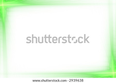 Green abstract flash frame background over white with copyspace - stock photo