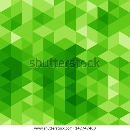 Green abstract geometrical seamless pattern - stock photo