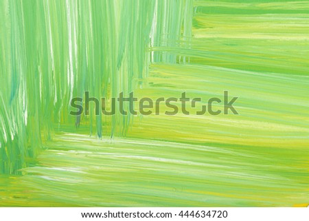 Green abstract hand-painted gouache brush stroke daub background texture. Art. Expression of its own thoughts. Outpouring. Backgrounds. - stock photo