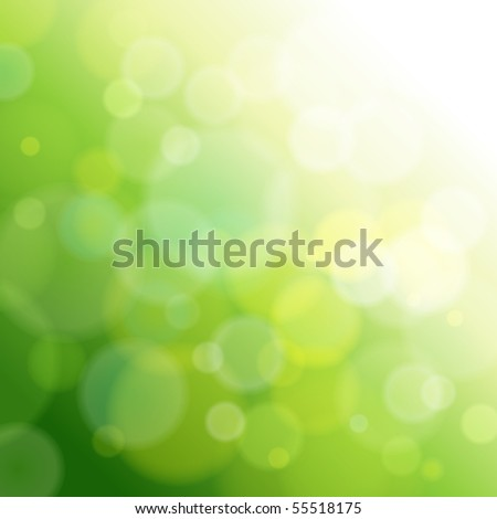 green abstract light background. Vector illustration - stock photo