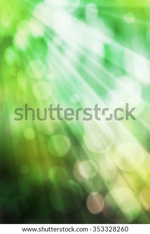 Green abstract nature background with sunlight - stock photo
