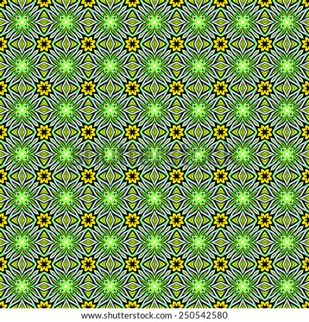 green abstract ornamental pattern