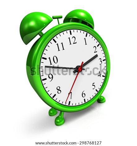 green alarm clock 2