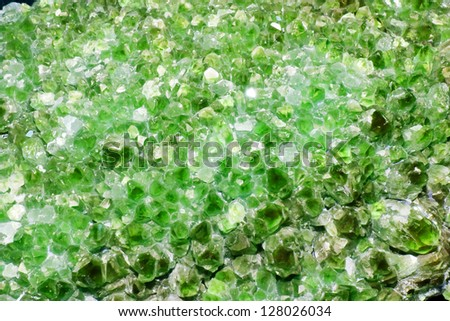 Green Amethyst Cluster Background - stock photo