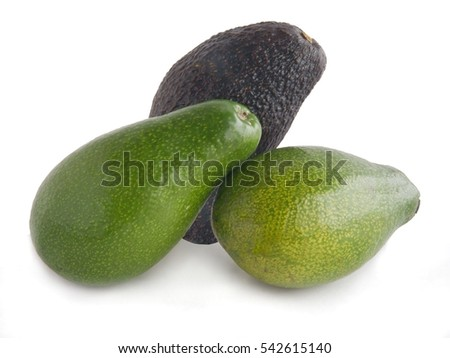 green and brown avocado fruit