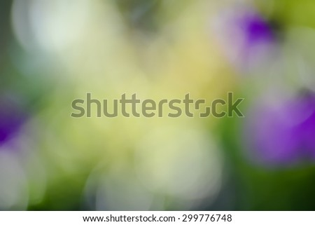 Green and flowers blurred background sunlight - stock photo