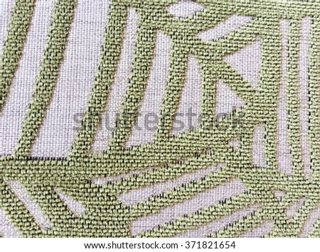 Green and gray carpet. Background. Textile texture. - stock photo