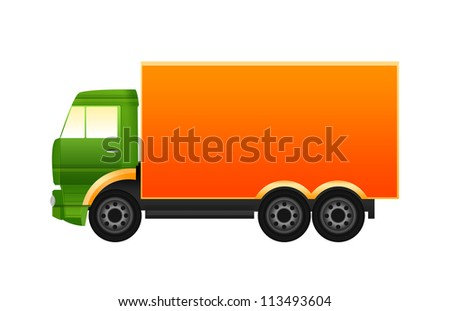 Green and orange truck