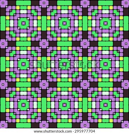 green and purple mosaic dots pattern background
