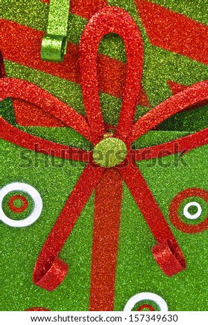 Green and Red Christmas Background - Sparkly Green and Red Christmas Texture for Wallpaper or Background - stock photo