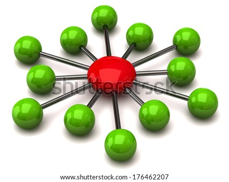 Green and red network icon