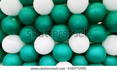 Green and white balloon backgrounds