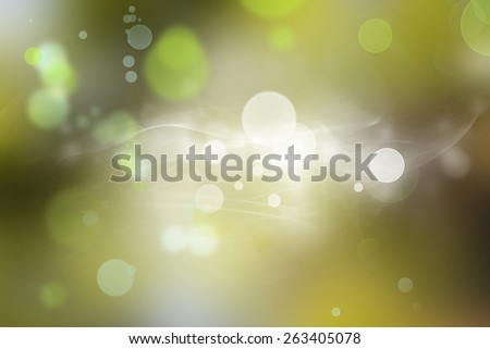 Green and white circles abstract background