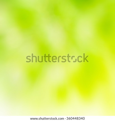 Green and yellow abstract light spots can be used for background - stock photo
