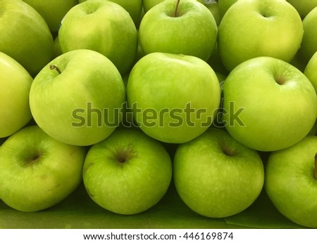 Green Apple background-Close up