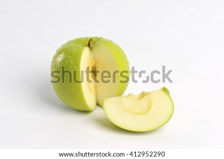 green apple can be cooked in a variety of foods - stock photo