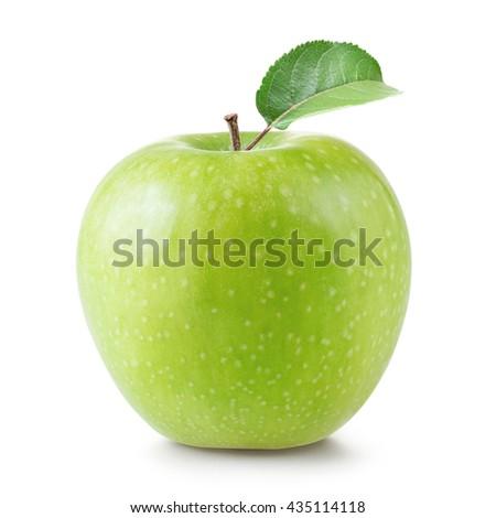 Green apple isolated - stock photo