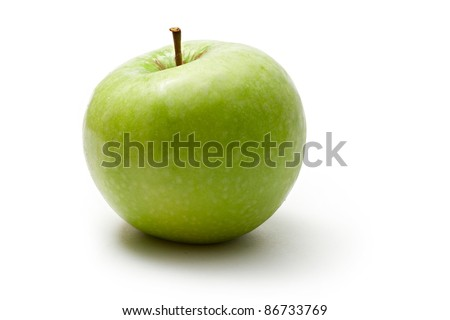 Green apple isolated on the white background