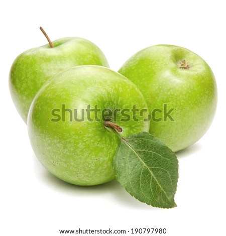Green apple isolated on white  - stock photo