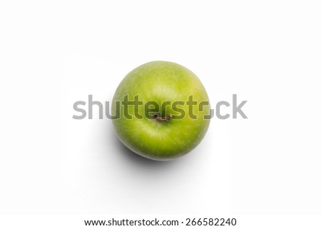 Green apple isolated on white background - stock photo