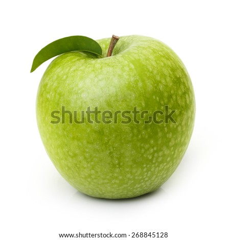 Green apple isolated on white background. - stock photo