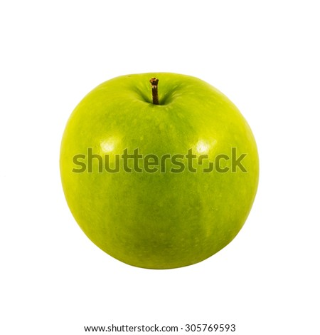 green apple isolated on white with clipping path