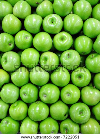 green apple shop - stock photo