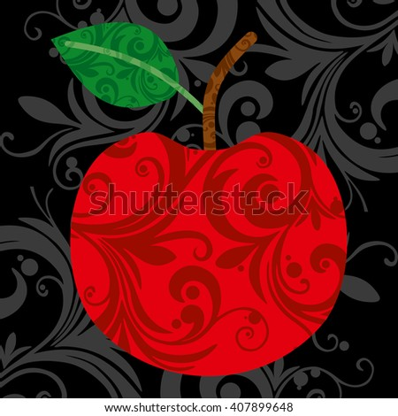 Green Apple, The apple tree is a deciduous tree in the rose family best known for its sweet fruit, the apple. It is cultivated worldwide as a fruit tree - stock photo