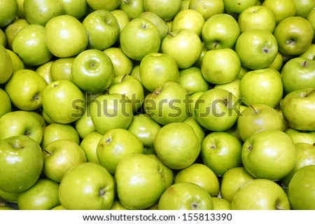 Green apples - stock photo