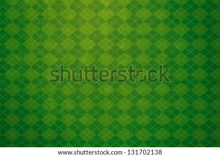 Green Argyle Textured Background - stock photo