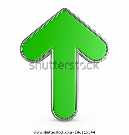 green arrow - stock photo