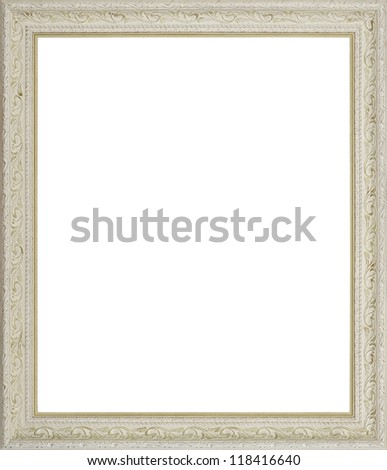 Green art picture frame - stock photo