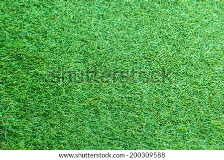 Green artificial turf texture for background.